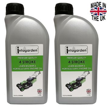10W-30, SAE 30 Engine Oil, 2 Litres, 2 x 1 Litre Bottles, For Lawn Mowers, Rotovators, 4 Stroke
